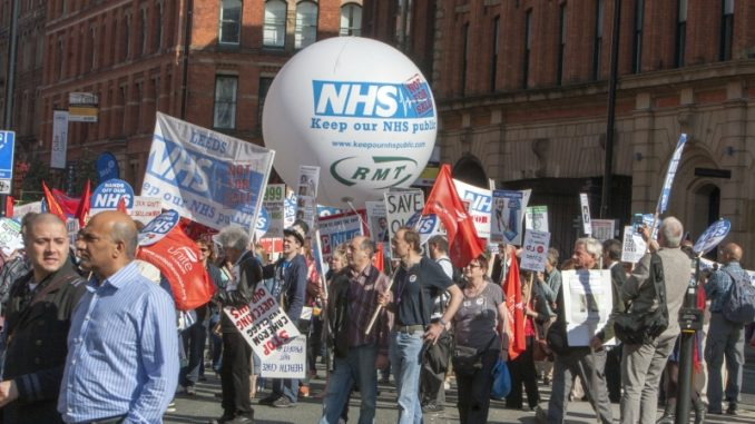 TUC Save Our NHS Demo Manchester Sept 2013,